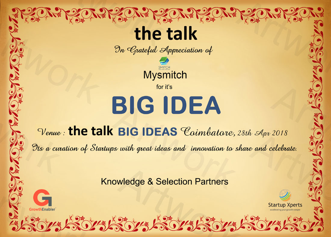 the talk - Big Ideas To Scale SME's And Startups The Westin, Hyderabad - 27th May 2017