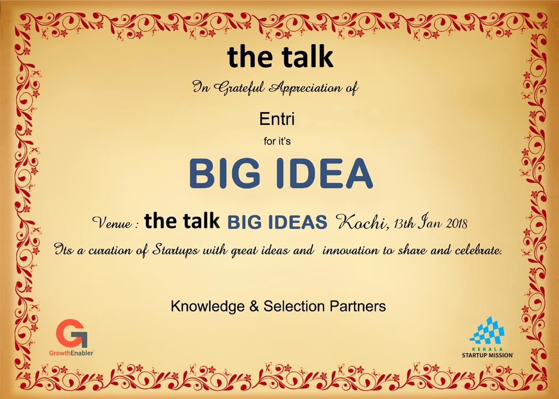 the talk - Big Ideas To Scale SME's And Startups The Westin, Hyderabad
